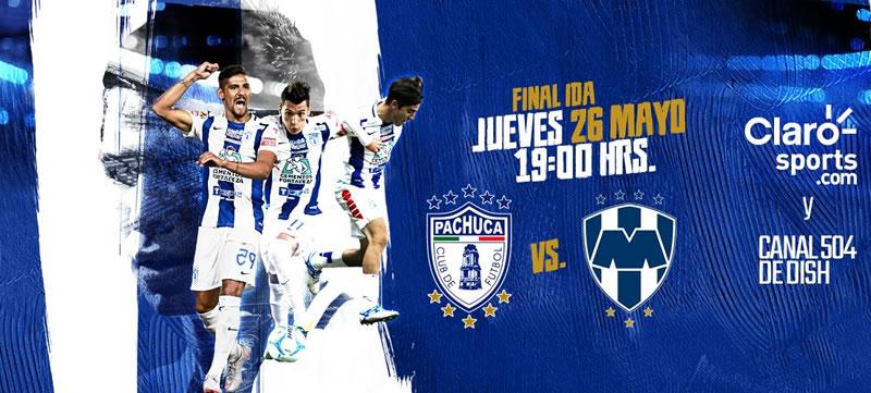 Pachuca vs Monterrey, Ida de la Final del Clausura 2016 | Resultado: 1-0 - final-pachuca-vs-monterrey-2016-claro-sports