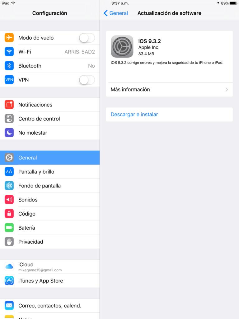 Apple lanza iOS 9.3.2 con solución a bugs - img_1472