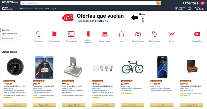 Conoce las primeras Ofertas en el Hot Sale 2016 de Amazon México (30 de junio) - ofertas-hot-sale-2016-en-amazon-mexico