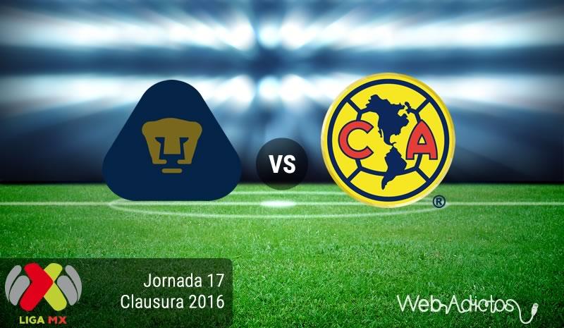Pumas vs América, Clásico Capitalino en el Clausura 2016 | Resultado: 1-1 - pumas-vs-america-jornada-17-del-clausura-2016