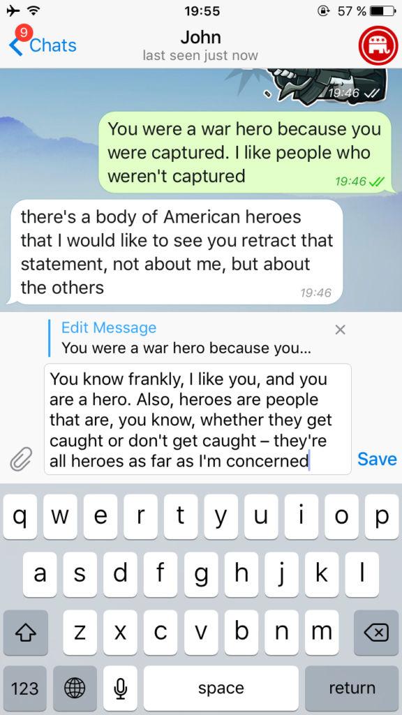 Telegram añade la posibilidad de editar mensajes - telegram-editar