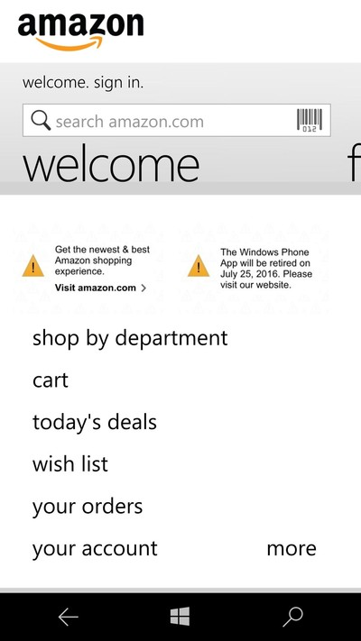 Amazon retirará su app para Windows Phone este 25 de Julio - amazon-retirement-windows-phone