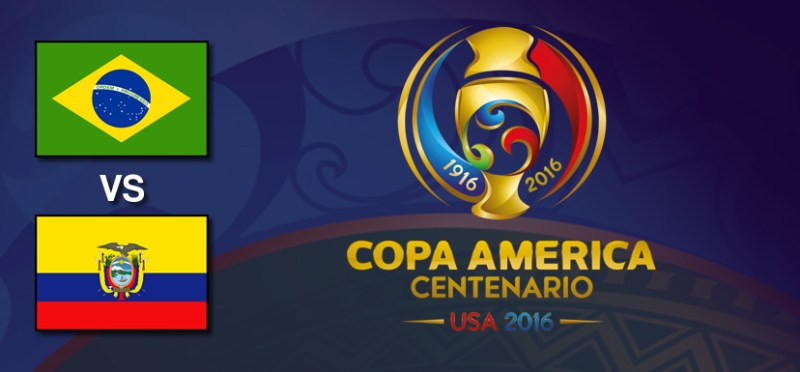 Brasil vs Ecuador, Copa América 2016 | Resultado: 0-0 - brasil-vs-ecuador-copa-america-2016