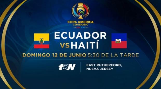 Ecuador vs Haití, Copa América Centenario   Resultado: 4-0 - ecuador-vs-haiti-copa-america-2016-televisa-deportes