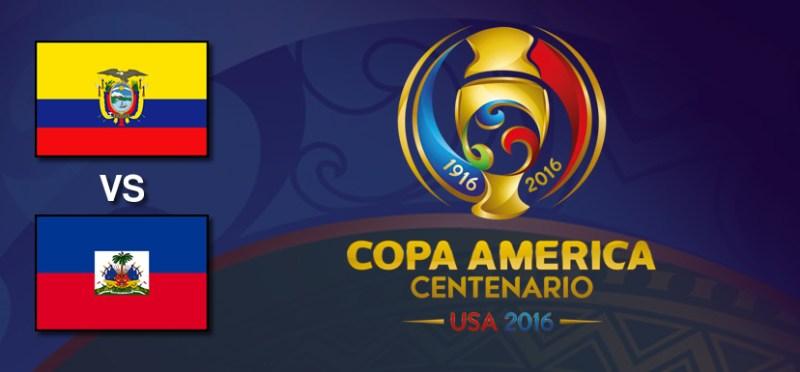 Ecuador vs Haití, Copa América Centenario | Resultado: 4-0 - ecuador-vs-haiti-copa-america-centenario-2016
