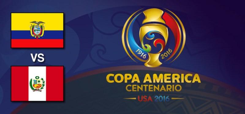 Ecuador vs Perú, Copa América Centenario 2016   Resultado: 2-2 - ecuador-vs-peru-copa-america-centenario-2016