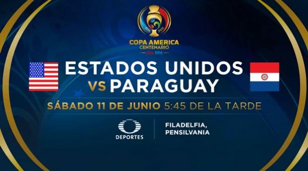 Estados Unidos vs Paraguay, Copa América Centenario | Resultado: 1-0 - estados-unidos-vs-paraguay-televisa-deportes-copa-america-centenario