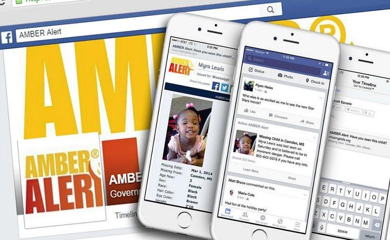 Facebook ayudará a localizar personas perdidas con Alerta Amber - amber-alert-facebook-800x492