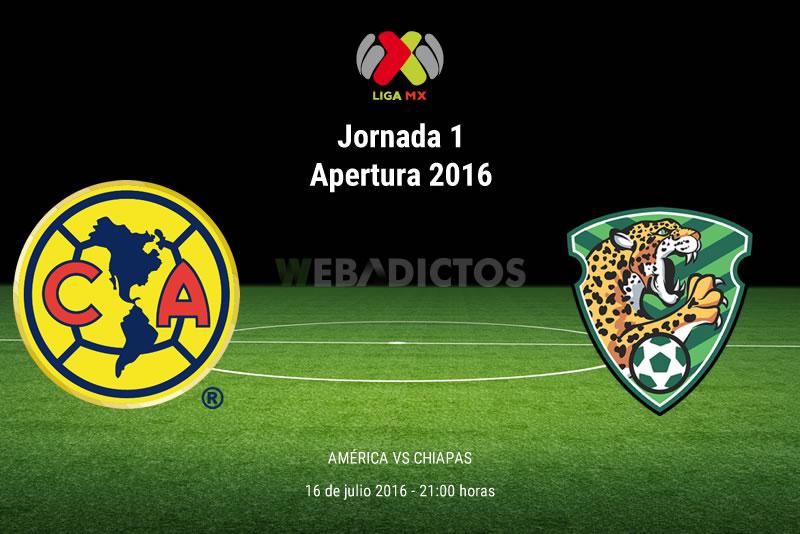 América vs Jaguares en el Apertura 2016    Resultado: 2-0 - america-vs-jaguares-de-chiapas-apertura-2016-j1