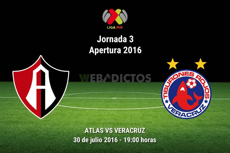 Atlas vs Veracruz, Fecha 3 del Apertura 2016 | Resultado: 1-0 - atlas-vs-veracruz-apertura-2016