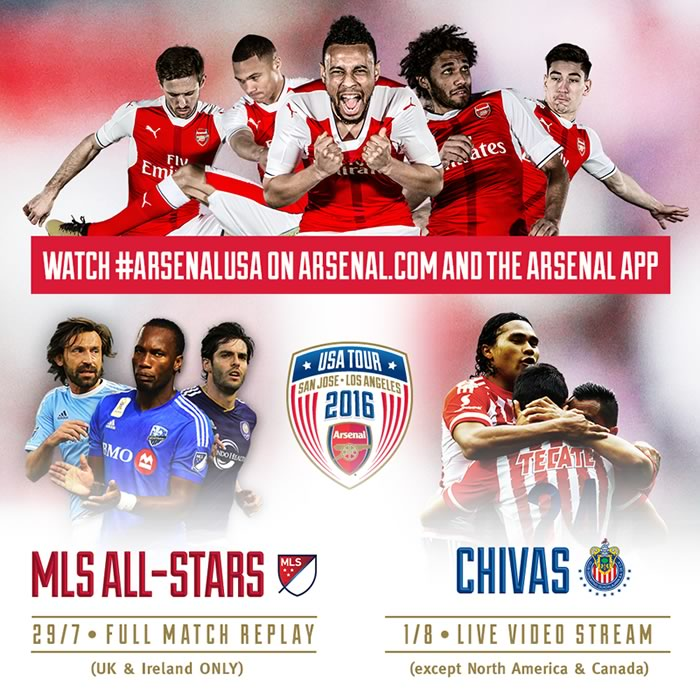 Chivas vs Arsenal, Partido amistoso 2016 | Resultado 1-3 - chivas-vs-arsenal-en-vivo-arsenal-com