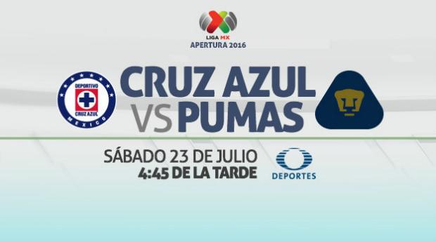 Cruz Azul vs Pumas, J2 del Apertura 2016 | Resultado: 0-0 - cruz-azul-vs-pumas-en-vivo-apertura-2016