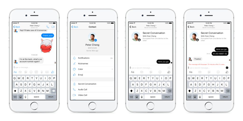 Facebook Messenger empieza a probar encriptación de punto-a-punto - facebook-messenger-secret-conversations