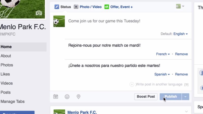 Facebook permitirá publicar en varios idiomas - facebook-traductor