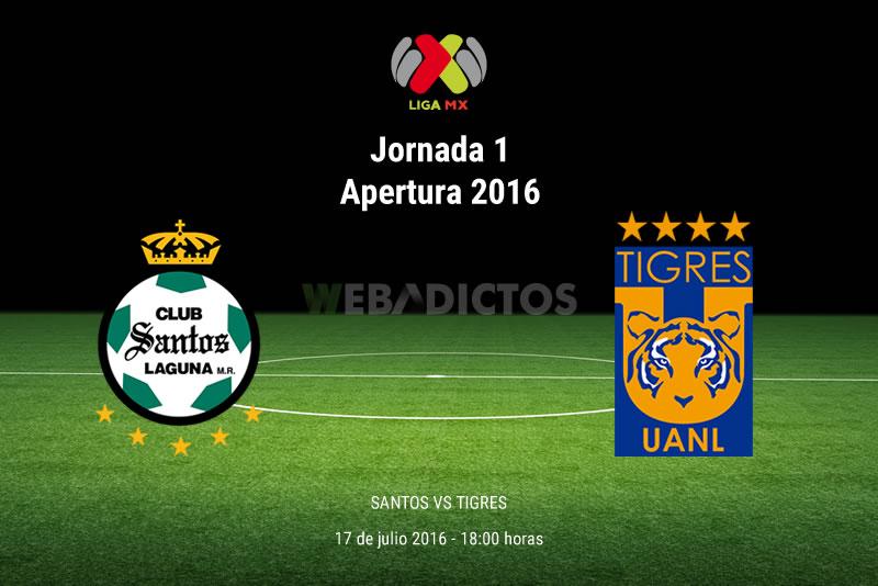 Santos vs Tigres, J1 del Apertura 2016   Resultado: 0-0 - santos-vs-tigres-apertura-2016