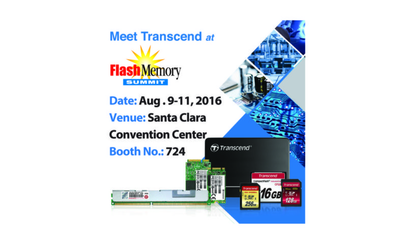Transcend presentará soluciones avanzadas de grado industrial, en Flash Memory Summit 2016 - transcend-flash-memory-summit-2016-800x480