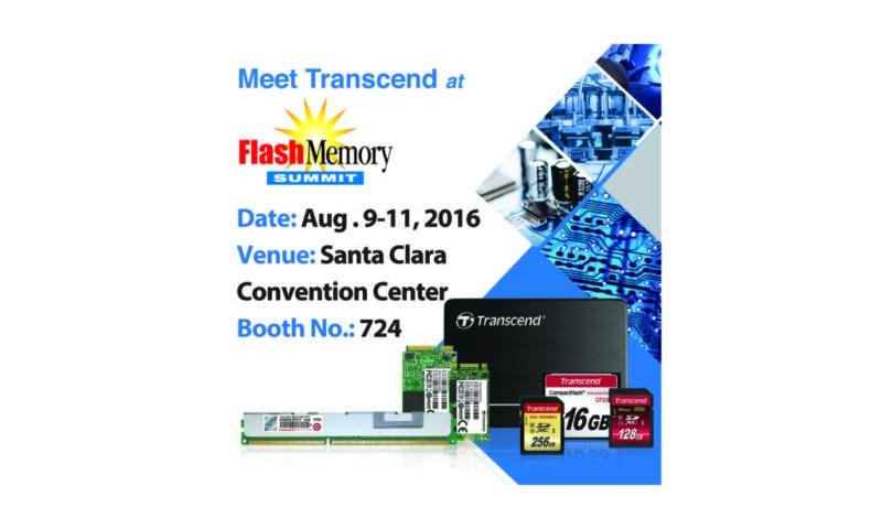 Transcend presentará soluciones avanzadas de grado industrial, en Flash Memory Summit 2016 - transcend-flash-memory-summit-2016-800x480