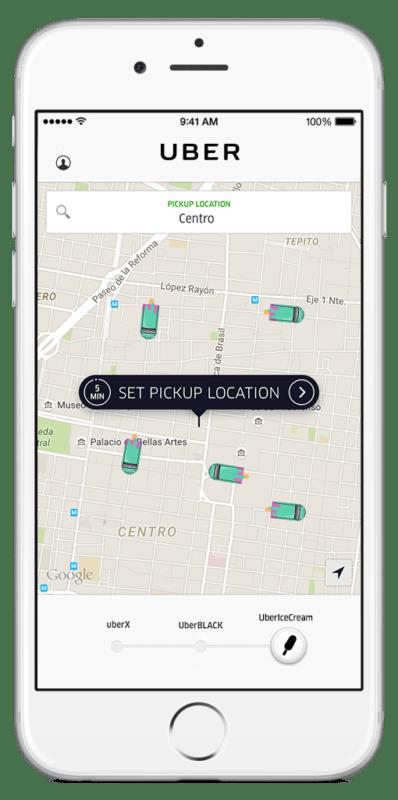 #UberIceCream: se unen Uber y Magnum para llevarte paletas en donde estés - uber-ice-cream-movil-398x800