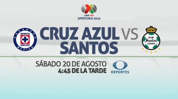 Cruz Azul vs Santos, Jornada 6 Liga MX A2016   Resultado: 3-1 - cruz-azul-vs-santos-en-vivo-apertura-2016