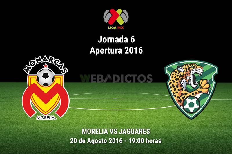 Morelia vs Jaguares, J6 del Apertura 2016 | Resultado: 3-2 - monarcas-morelia-vs-jaguares-jornada-6-apertura-2016