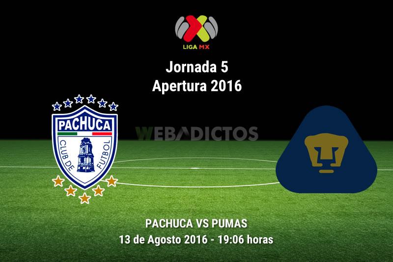 Pachuca vs Pumas, Jornada 5 del Apertura 2016   Resultado: 3-0 - pachuca-vs-pumas-apertura-2016
