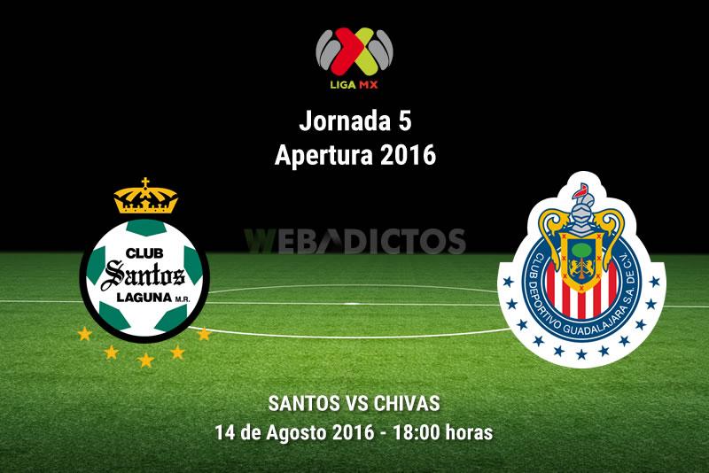 Santos vs Chivas, Jornada 5 del Apertura 2016 | Resultado: 0-1 | Liga MX - santos-vs-chivas-apertura-2016