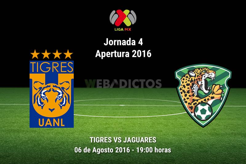 Tigres vs Jaguares, J4 del Apertura 2016    Resultado: 1-0 - tigres-vs-jaguares-de-chiapas-apertura-2016