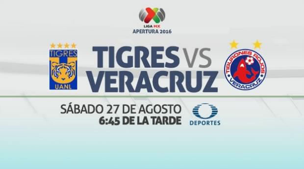 Tigres vs Veracruz, Fecha 7 del Apertura 2016   Resultado: 1-1 - tigres-vs-veracruz-en-vivo-j7-apertura-2016