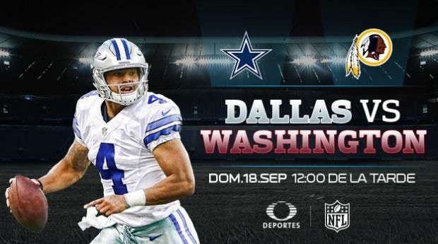 Dallas vs Washington y Indianapolis vs Denver por Televisa Deportes este 18 de septiembre - dallas-vs-washington-en-vivo-2016