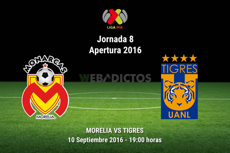 Morelia vs Tigres, Fecha 8 del Apertura 2016   Resultado: 0-2 - monarcas-morelia-vs-tigres-apertura-2016