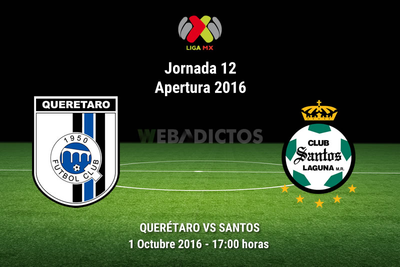 Querétaro vs Santos, Jornada 12 del Apertura 2016   Resultado: 1-1 - queretaro-vs-santos-apertura-2016
