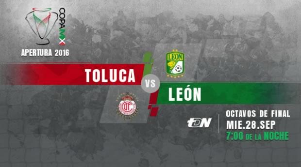Toluca vs León, Copa MX Apertura 2016   Resultado: 4-3 - toluca-vs-leon-en-vivo-copa-mx-apertura-2016