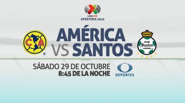 América vs Santos, Fecha 15 del Apertura 2016 | Resultado: 3-1 - america-vs-santos-j15-televisa-deportes