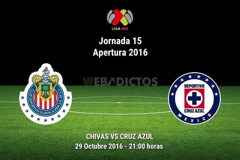 Chivas vs Cruz Azul, Jornada 15 Apertura 2016 | Resultado: 3-2 - chivas-vs-cruz-azul-apertura-2016