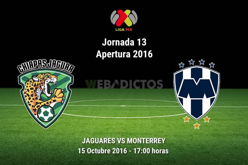 Jaguares vs Monterrey, J13 del Apertura 2016 | Resultado: 1-4 - jaguares-vs-monterrey-apertura-2016