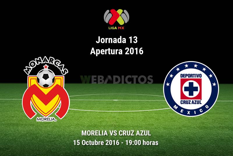 Morelia vs Cruz Azul, Fecha 13 del Apertura 2016 | Resultado: 1-1 - morelia-vs-cruz-azul-apertura-2016