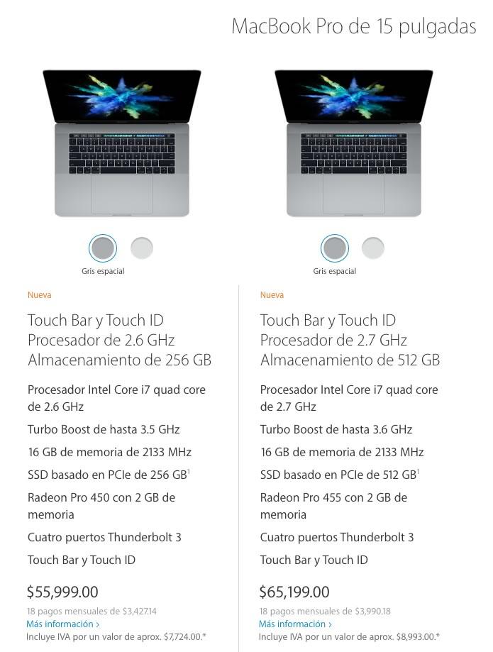 Nueva MacBook Pro es presentada por Apple y su precio está por las nubes - precios-nueva-macbook-pro-15-pulgadas
