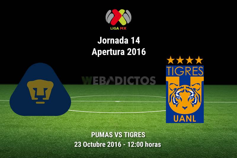 Pumas vs Tigres, Jornada 14 del Apertura 2016   Resultado: 1-3 - pumas-vs-tigres-apertura-2016