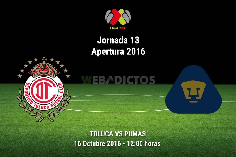 Toluca vs Pumas, J13 del Apertura 2016 | Resultado: 2-1 - toluca-vs-pumas-apertura-2016