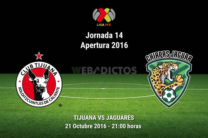 Xolos de Tijuana vs Jaguares, Jornada 14 del Apertura 2016   Resultado: 2-0 - xolos-tijuana-vs-jaguares-chiapas-apertura-2016