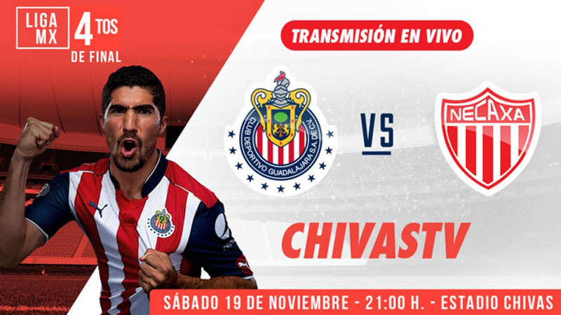Chivas vs Necaxa, Jornada 17 del Apertura 2016    Resultado: 1-1 - chivas-vs-necaxa-chivas-tv-j17