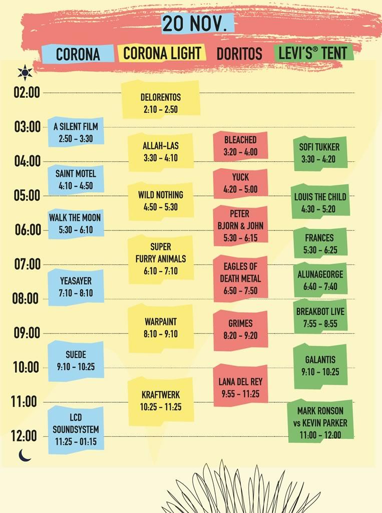 Revelan los horarios del Corona Capital 2016 ¿Cuándo toca tu banda favorita? - horarios-corona-capital-2016-20-noviembre