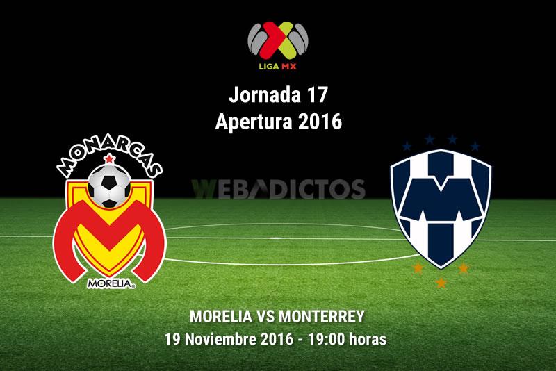 Morelia vs Monterrey, Jornada 17 del Apertura 2016 | Resultado: 1-2 - monarcas-morelia-vs-monterrey-apertura-2016