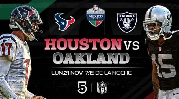 Raiders de Oakland vs Houston, NFL en México   Resultado: 27-20 - oakland-vs-houston-nfl-en-mexico-televisa