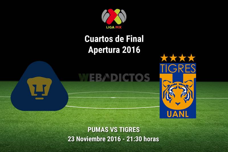 Pumas vs Tigres, ida de la Liguilla A2016   Resultado: 2-2 - pumas-vs-tigres-liguilla-apertura-2016