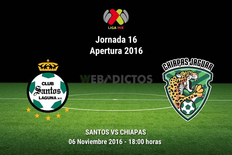 Santos vs Chiapas, Jornada 16 del Apertura 2016 | Resultado: 2-0 - santos-vs-jaguares-de-chiapas-apertura-2016