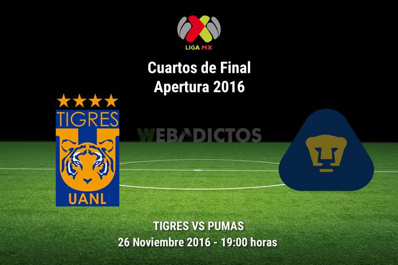 Tigres vs Pumas, Cuartos de Final A2016   Resultado: 5-0 - tigres-vs-pumas-cuartos-de-final-apertura-2016