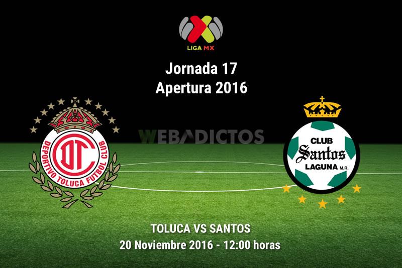 Toluca vs Santos, Jornada 17 del Apertura 2016 | Resultado: 1-2 - toluca-vs-santos-apertura-2016