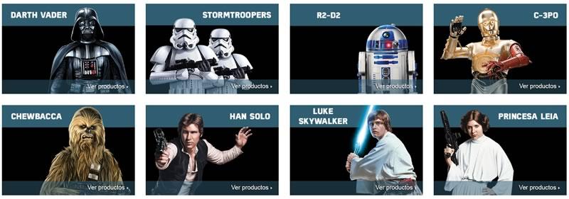 Amazon México rediseña su tienda de Star Wars por el estreno de Rogue One - clasicos-star-wars-amazon