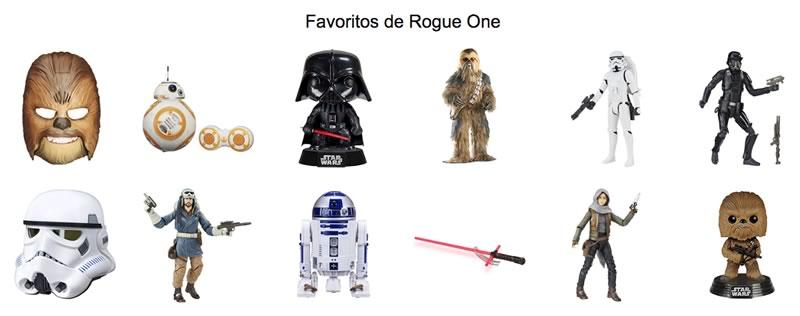 Amazon México rediseña su tienda de Star Wars por el estreno de Rogue One - favoritos-rogue-one-amazon